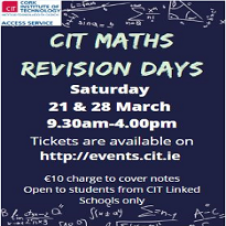 Maths Revision Days for Leaving Cert Students (CIT Access Linked Schools only)  - Berkeley Centre