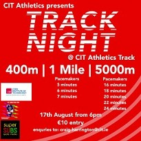 CIT Athletics Track Night - Athletics Track